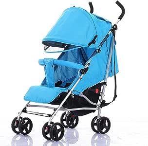 lanova ベビーカー (大容量下カゴ装備) 軽い 4輪 赤ちゃんにやさしい (生後2ヶ月~48ヶ月頃まで対象) ブルー