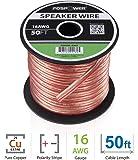 FosPower 16AWG 純銅 高純度OFC スピーカーケーブル/スピーカーワイヤー【16ゲージ | 15メートル…