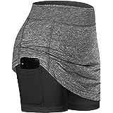 Ainiel Womens Summer Athletic Tennis Skirt Yoga Athletic Running Shorts
