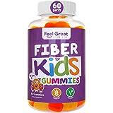Prebiotic Fiber Gummies for Kids by Feel Great 365   Improves Digestive Health, Gut Flora, Health & Immunity*   Vegetarian &