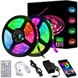 Led Strip Lights 32.8ft 10m Smart Music Sync LED Light Waterproof RGB Led Strips with APP Bluetooth IR Control and 12v Power