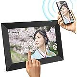 JEEMAK デジタルフォトフレーム 10.1インチ WiFi対応 フォトフレーム IPS タッチパネル 1280*800高解像度 IPS広視野角 16GB内部ストレージ スライドショー 回転可能 SDカード対応/写真動画再生 プレゼント 良いギフト