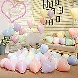 風船 マカロンバルーン 10インチ 100個セット 極厚 アソート風船 誕生日 バースデーバルーン パーティー 告白 結婚式 ロマンチック 飾り ハートタイプ Balloon (100個)