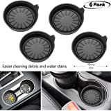 4 Pack Soft Groove Coaster,Keep Your Groove Clean Universal All car Models Cup Holder Coasters