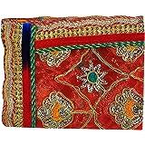 Aditri Creation Pink Small Chunari Decorative Cloth Puja Chunni Chunar (Size :- 20 Inches x 12 Inches) Aasan Mat