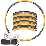 [Amazonブランド] Eono(イオーノ) フラフープ ダイエット フラフープ 大人用 シェイプアップフラフープ 組み立て式8本 最大直径98cm 1.2kg 1.8kg 収納袋付き サイズ調整可能 バランス インナーマッスル