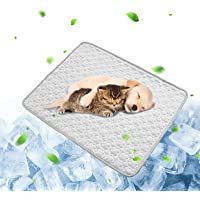 Metglad 夏用 ペット用 冷感シーツ ペット用 接触冷感パッド 2021アップグレード版 接触冷感マット 洗える…