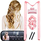 Heatless Hair Curler Curls FYL Curling Ribbon Silk Rod Headband Overnight Flat Design with Travel Case For Medium and Long Ha