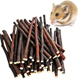 MAOM Nature Apple Sticks Pet Food Wood Chew Toys for Guinea Pigs Chinchilla Rabbits Hamster