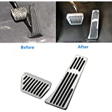 Jaronx for BMW No Drill Gas Brake Pedal, Anti-Slip Aluminium Alloy at Accelerator Brake Pedal Cover (Fits: BMW 3 5 6 7 X3 X4