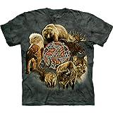 The Mountain Animal Spirit Circle Adult T-Shirt