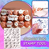 Alphabet Cake Stamp Tool, Food-Grade Alphabet Biscuit Fondant Cake/Cookie Stamp Mold Set - Reusable & Easy to Clean, Unique L