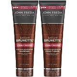 John Frieda Brilliant Brunette Visibly Deeper Bundle: Colour Deepening Shampoo & Conditioner, 250ml Each