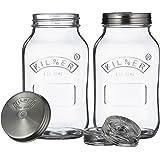 Kilner 25.01 Fermentation Jar 2-Piece Set, 1 Litre Capacity