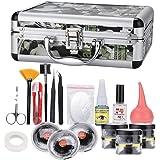 Eyelash Extension Tool Set, 23pcs Professional False Eyelashes Extension Kit with Container Extension Practice Exercise Set