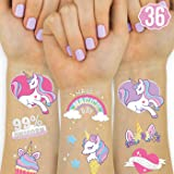 xo, Fetti Unicorn Party Supplies Temporary Tattoos for Kids - 36 Glitter Styles | Unicorn Party Favors and Birthday Decoratio