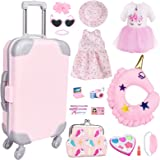 VLUSSO 17 pcs Girl Doll Accessories Travel Play Set for 18 Inch Doll