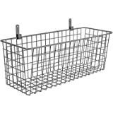 3 Set [Extra Large] Hanging Wall Basket for Storage, Wall Mount Sturdy Steel Wire Baskets, Metal Hang Cabinet Bin for Organiz