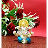 "Sawcart 2.5"" Lord Ganesha/Ganpati Small Blue Statue Decorative Puja Idol Figurine Sculpture Hindu God of Success, Prosperity"