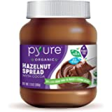 Organic Hazelnut Spread with Cocoa by Pyure | Keto Friendly, No Palm Oil, Vegan, Peanut Free | 90% Less Sugar Than the Market