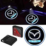 2Pcs For HD LED Mazda Logo Car Door Projection Lights, Welcome Ghost Shadow Lamp Fit for Mazda Cars
