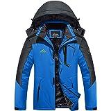 TACVASEN Men's Mountain Ski Jacket Windproof Fleece Liner Jacket Winter Snow Hooded Coat