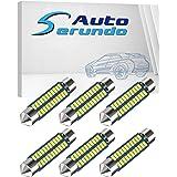 578 Led Bulb 211-2 Led Bulb 6411 Led Bulb 41mm 42mm 1.65in 212-2 Led Bulb for Car Map Light Dome Light, 22SMD 3014 Chips 6000