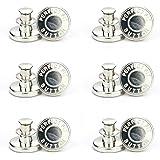 12PCS Jean Buttons,Detachable Denim Button,Instant Buttons Replacement Removable,No Sew Instant Button Detachable Jean Button
