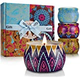 Scented Candles Set for Women Portable Candles Travel Tin Fragrance Gift for Mother Day Birthday Valentine Day Weddings Soy C