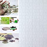 10 Sets Blank Sublimation A4 Jigsaw Puzzle with 120 Pieces DIY Heat Press Transfer Crafts A4 Thermal Transfer Puzzle Wholesal