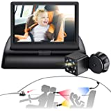 Sixmas Baby Car Mirror, Baby Car Camera with 3 Universal Mount, View Infant in Rear Facing Seat with Wide Crystal Clear View