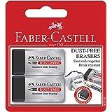 Faber-Castell Dust-Free Eraser Black, 2 Pack, (82-187157)