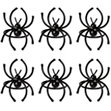 DII Set of 6 Napkin Rings, Pumpkins Scroll Spider