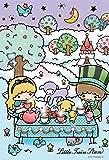 108ピース ジグソーパズル リトルツインスターズ キキ&ララ「アリスのお茶会」 マイクロピース (10x14.7cm)