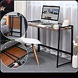 Yfeng Foldable Table Portable Folding Desk Study Table Computer Laptop Table Fold Work Desk (Color : Wood)