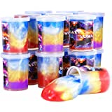 Jumbo 24 Pack Galaxy Slime Kit for Christmas Stocking Stuffers, Unicorn Marbled Slime for Kids Party Favors, Educational Game