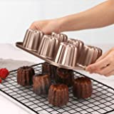 Canele Mold Cake Pan, Non-Stick Baking Carbon Steel Caneles moulds Cookware and Bakeware Cooking Tools cannelé frenchpastry