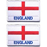 2 PCS AliPlus England Flag Patch Embroidery Tactical Military Patch Hook and Loop for Backpacks Caps Hats Jackets