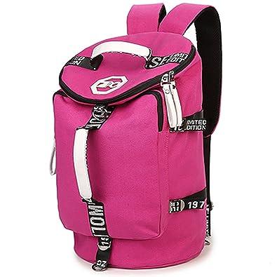 e9f2030e1fa8 Amazon | 2WAYボストンリュック ボストンバッグ バックパック 大容量 旅行バッグ トラベルバッグ スポーツバッグ トレンド (ピンク) |  登山リュック・ザック