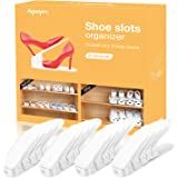 AQUAPRO Shoe Slots Organizer, Adjustable Shoe Stacker Space Saver, Double Deck Shoe Rack Holder for Closet Organization (20-P
