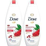 Dove go fresh Body Wash, Pomegranate and Lemon Verbena 22 oz (Pack of 2)