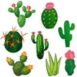 40 Pieces Cactus Cutouts Prickly Cactus Party Cutouts Green Cactus Paper-cuts for Fiesta Party Classroom Bulletin Board Wall