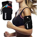 Innens Arm Bag, Universal Sports Fitness Armband with Earphone Jack Designed for iPhone X 8 7 6 6S Plus, Galaxy S10 S9 Plus S