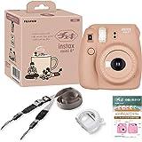 FUJIFILM インスタントカメラ チェキ instax mini8プラス 接写レンズ・純正ショルダーストラップ付き ココア 116mm×118mm×68mm INS MINI 8PLUS COCOA