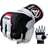 RDX MMA Gloves for Martial Arts Training and Sparring, Cowhide Leather Mitts for Grappling, Kickboxing, Muay Thai, Punching B