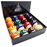 JAPER BEES Pool Balls Set Billiard Balls Pool Table Balls Regulation Size and Weight