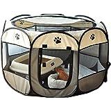 八角形ペット 折りたたみサークル グレー プレイサークル S ペットテント ペットハウス ペット用ケージ サークル ケージ アウトドア コンパクト 屋外 屋内 犬
