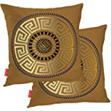 BaoNews Mandala Pillow Cover, Elegant Retro Black Floral Mandala Square 18 x 18 Inches Decorative Throw Pillow Covers Cotton