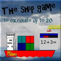 The ship game to calculate up to 20