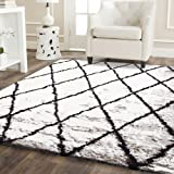 Home Culture Moroccan Diamond White Rug, 240x330cm Extra Large Rug